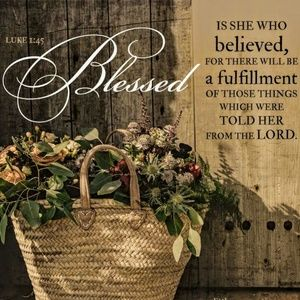 Pillow Cover-New-Christian Blessed is She Believed